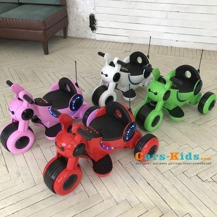 Детский электромотоцикл HL300 Red 6V - HL300-R (музыка, световые эффекты, мягкие колеса EVA)